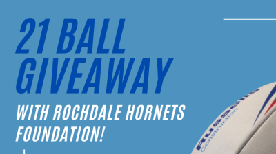 21 ball giveaway with Hornets Foundation