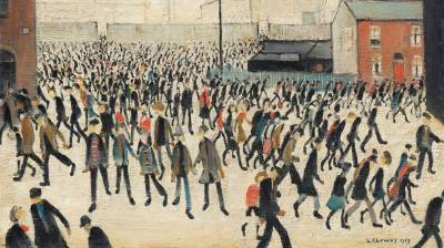 Coming from the Match by Lowry up for auction